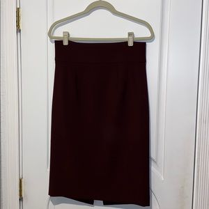 Large Zara Burgundy Pencil Skirt